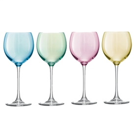 LSA Polka Pastel Wine Glasses