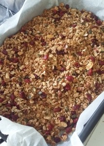 It's hard to resist sneaking a taste whilst the granola is cooling down!
