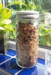 Lydia's Granola in our Glass Storage Jar