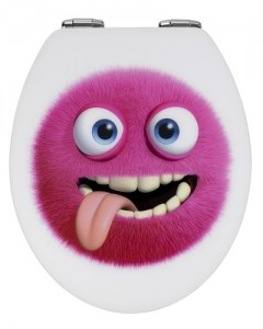 Pink Monster Toilet Seat